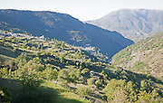 Villages of Pampaneria and Bubion, High Alpujarras, Sierra Nevada, Granada Province, Spain whitewashed