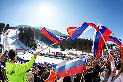 View on the course during the 2nd Run of Men's Giant Slalom - Pokal Vitranc 2014 of FIS Alpine Ski World Cup 2013/2014, on March 8, 2014 in Vitranc, Kranjska Gora, Slovenia. Photo by Matic Klansek Velej / Sportida