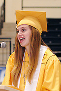 Salutatorian Sarah Finke speaks during the 47th commencement excercise of Archbishop Alter High School at Trent Arena in Kettering, Saturday, May 26, 2012.