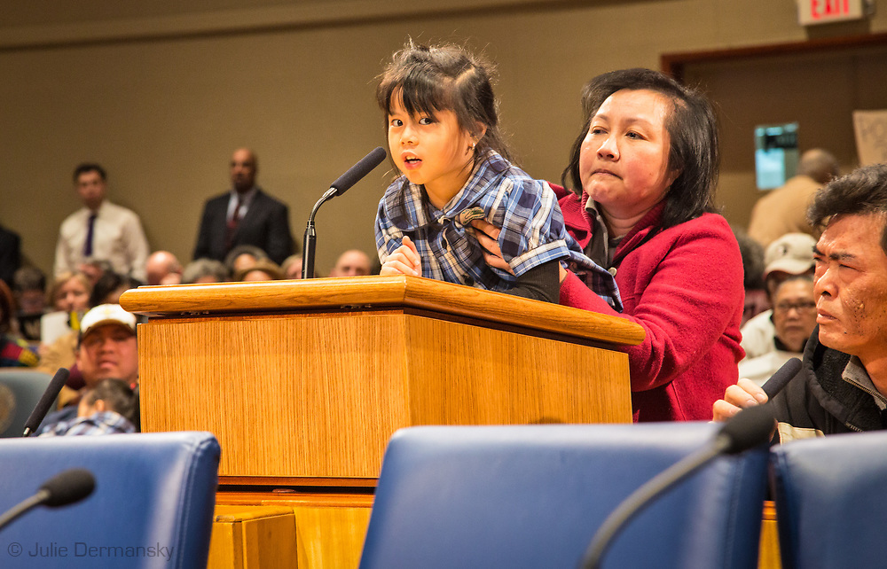 Christina Tran addresses the New Orleans City Council before the vote on Entergy's gas plant speaking against the project. The city voted to approve Entergy's project despite a lot of opposition. The City Council is now facing lawsuits over its decision.