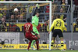 04.05.2013, Signal Iduna Park, Dortmund, GER, 1. FBL, Borussia Dortmund vs FC Bayern Muenchen, 32. Runde, im Bild Manuel NEUER (Torwart, Torhueter FC Bayern Muenchen - 1) kassiert das 0-1 durch Kevin GROSSKREUTZ (Borussia Dortmund - BVB - 19) nicht im Bild // during the German Bundesliga 32th round match between Borussia Dortmund and FC Bayern Munich at the Signal Iduna Park, Dortmund, Germany on 2013/05/04. EXPA Pictures © 2013, PhotoCredit: EXPA/ Eibner/ Gerry Schmit..***** ATTENTION - OUT OF GER *****