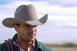 Portrait of a handsome cowboy