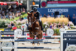 EPAILLARD Julien (FRA), Virtuose Champeix<br /> Berlin - Global Jumping Berlin 2018<br /> 2. Wertung für Global Champions League<br /> 28. Juli 2018<br /> © www.sportfotos-lafrentz.de/Stefan Lafrentz