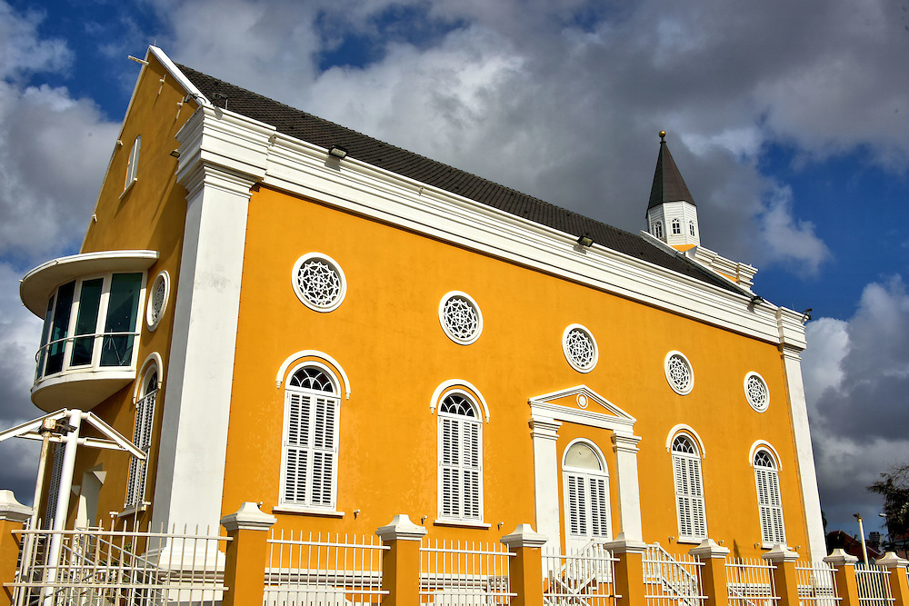Temple Emanu-El in Punda, Eastside of Willemstad, Cura&ccedil;ao <br />