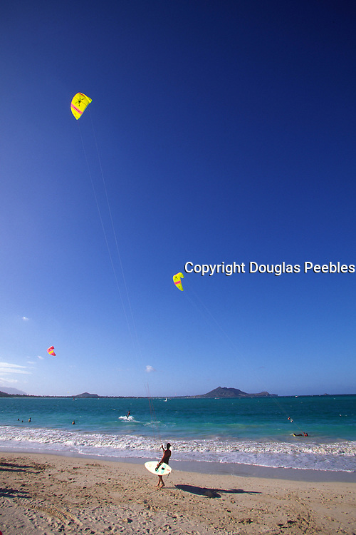 Kite Surfing, Kailua Beach, Hawaii<br />