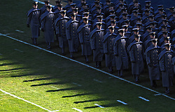 PHILADELPHIA - DECEMBER 12: Army Cadets march onto the field before the game against Navy on December 12, 2009 at Lincoln Financial Field in Philadelphia, Pennsylvania. (Photo by Drew Hallowell/Getty Images)