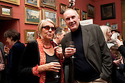 ELIZA SEAGRAVES; CHRISTOPHER SANDLAND, Party to celebrate the publication of Animal Magic by Andrew Barrow. Tite St. London. 28 February 2011.  -DO NOT ARCHIVE-© Copyright Photograph by Dafydd Jones. 248 Clapham Rd. London SW9 0PZ. Tel 0207 820 0771. www.dafjones.com.