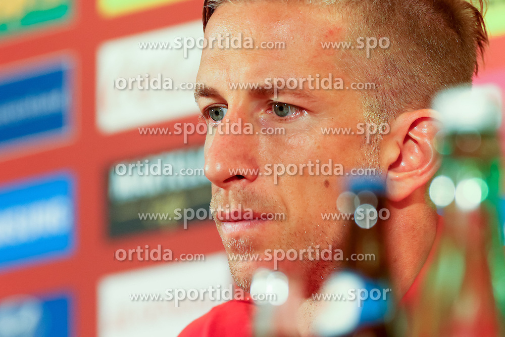01.09.2015, Ernst Happel Stadion, Wien, AUT, UEFA Euro 2016 Qualifikation, Österreich vs Moldawien, Gruppe G, Pressekonferenz Österreich, im Bild Marc Janko (AUT)// during a press conference of Team Austria (AUT) in front of the UEFA European Championship Qualifier Match between Austria (AUT) and Moldova (MDA) at the Ernst Happel Stadion, Vienna, Austria on 2015/09/01. EXPA Pictures © 2015, PhotoCredit: EXPA/ Sebastian Pucher