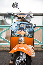 © Hugo Michiels Photography. 01/10/2017. Brighton, UK. A scooter decorated in support of the Brighton RNLI. Photo credit: Hugo Michiels