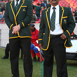 PORT ELIZABETH, SOUTH AFRICA - AUGUST 20, Dick Muir assistant coach with Peter de Villiers Springbok Head Coach during the Castle Lager Tri Nations match between South Africa and New Zealand from Nelson Mandela Bay Stadium on August 20, 2011 in Port Elizabeth, South Africa<br /> Photo by Steve Haag / Gallo Images