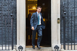 London, June 27th 2017. Health Secretary Jeremy Hunt leaves the weekly UK cabinet meeting at 10 Downing Street in London.