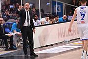 Francesco Frank Vitucci<br /> Dolomiti Energia Aquila Basket Trento - Happy Casa New Basket Brindisi<br /> LegaBasket Serie A 2017/2018<br /> Trento, 08/04/2018<br /> Foto M.Ceretti / Ciamillo - Castoria