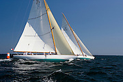 Onawa and Gleam at the Museum of Yachting 12 Meter Regatta