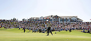 Pictures taken at the Australian Open Golf which was held at the NSW Golf Course, La Perouse.<br /> Adam Scott acknowledges the crowd after winning the Australian open ,pic is after putting out on the 18th.<br /> Commissioned by ISEEKGOLF
