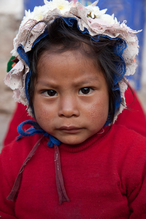 Young girl in Pisac, Urubamba region, in the sacred valley ofthe Incas, Peru.