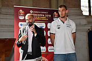 buscaglia lechthaler<br /> presentazioe supercoppa 2018<br /> Legabasket Serie A 2018/19<br /> Brescia, 24/09/2018<br /> Ciamillo-Castoria