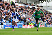 Chesterfield's Gboly Ariyibi (28) during the EFL Sky Bet League 1 match between Chesterfield and Scunthorpe United at the b2net stadium, Chesterfield, England on 22 October 2016. Photo by Richard Holmes.