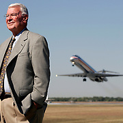 McAllen, TX / 2005 - McAllen International Airport Director of Aviation Derald Lary posed for The Monitor near one of the airport's runways Wednesday morning.  Lary will be retiring from his post as Director on January 31, 2006. Photo by Mike Roy/The Monitor