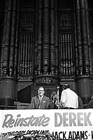 Derek Robinson sacked British Leyland Convenor at a rally in Birmingham Town Hall. 13/01/1980.