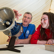 02.05.2017.       <br /> The Limerick for Engineering Showcase returned for its third year to the South Court Hotel in Raheen as demand for engineers in Limerick and the Mid-West region surges. <br /> <br /> Pictured at the event were, Ronan Grimes School of Engineering, UL with Maebh Brown. Picture: Alan Place.