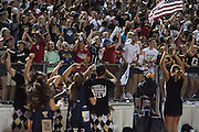 The Colony fans cheer on their team against Frisco Heritage during a high school football game at Tommy Briggs Cougar Stadium in The Colony, Texas on September 11, 2015. (Cooper Neill/Special Contributor)