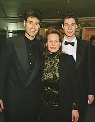 MR & MRS URI GELLER and their son MR DANIEL GELLER, at a ball in London on 27th February 1999.MOU 24