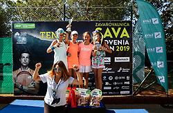 Anja Regent at Tenis Fest U12 Trophy ceremony during ATP Challenger Zavarovalnica Sava Slovenia Open 2019, day 7, on August 15, 2019 in Sports centre, Portoroz/Portorose, Slovenia. Photo by Vid Ponikvar / Sportida