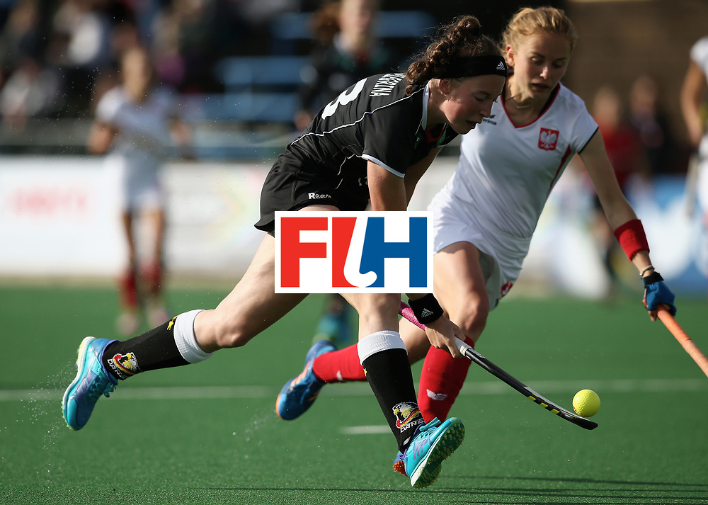 JOHANNESBURG, SOUTH AFRICA - JULY 8: Teresa Martin Pelegrina of Germany in action during the pool A match between Germany and Poland on day one of the FIH Hockey World League Semi-Final at Wits University on July 8, 2017 in Johannesburg, South Africa. (Photo by Jan Kruger/Getty Images for FIH)