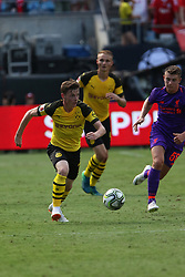 July 22, 2018 - Charlotte, NC, U.S. - CHARLOTTE, NC - JULY 22: Sergio Gomez (17) with the ball during the International Champions Cup soccer match between Liverpool FC and Borussia Dortmund in Charlotte, N.C. on July 22, 2018. (Photo by John Byrum/Icon Sportswire) (Credit Image: © John Byrum/Icon SMI via ZUMA Press)