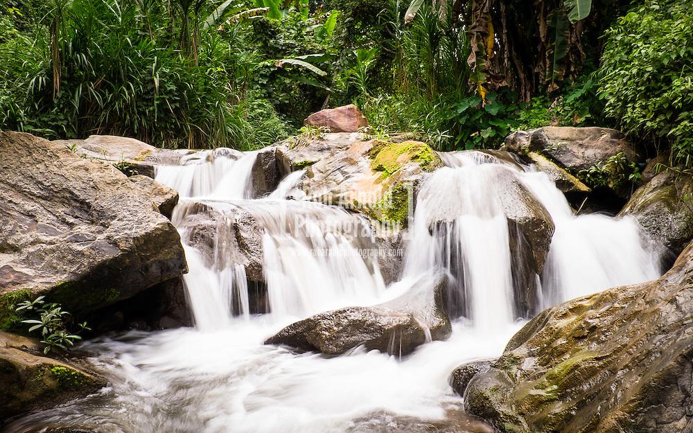 A waterfall in the Mae Sa Valley near Chiang Mai, Thailand.