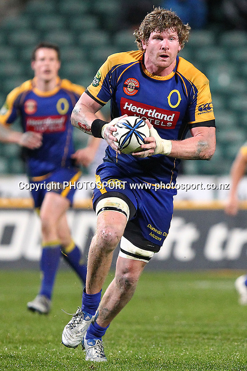 Otago's Adam Thomson in action. ITM Cup rugby union match, North Harbour v Otago at North Harbour Stadium, Albany, Auckland, New Zealand. Thursday 19th August 2010. Photo: Anthony Au-Yeung/PHOTOSPORT