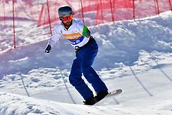 POLLARD Sean, SB-UL, AUS, Banked Slalom at the WPSB_2019 Para Snowboard World Cup, La Molina, Spain