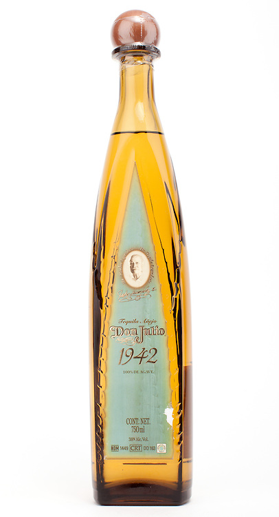 Don Julio 1942 (old style bottle) -- Image originally appeared in the Tequila Matchmaker: http://tequilamatchmaker.com