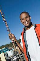 Teenage Boy Fishing