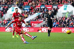 Jamie Paterson of Bristol City strikes the ball - Rogan Thomson/JMP - 04/02/2017 - FOOTBALL - Ashton Gate Stadium - Bristol, England - Bristol City v Rotherham United - Sky Bet Championship.