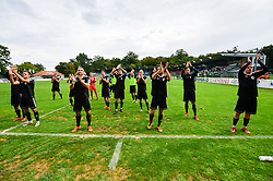 Players of NS Mura celebrates after football match between NS Mura and NK Aluminij in 6th Round of Prva liga Telekom Slovenije 2018/19, on August 26, 2018 in Mestni stadion Fazanerija, Murska Sobota, Slovenia. Photo by Mario Horvat / Sportida