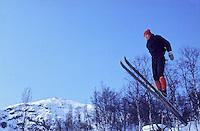 A skijumping man