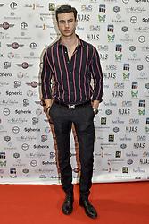 May 24, 2019 - Turin, italy - Turin. HOAS event: arrivals at the Bagutta fashion show in the photo: Mattia Narducci Mattia Narducci wearing a Bagutta shirt (Credit Image: © Riccardo Giordano/IPA via ZUMA Press)