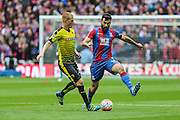 Crystal Palace's Mile Jedinak and Watford's Ben Watson during the The FA Cup match between Crystal Palace and Watford at Wembley Stadium, London, England on 24 April 2016. Photo by Shane Healey.