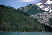 Kayaking, Kayak, Kayaking, Kayaker, Sparks Lake, Bend, Oregon