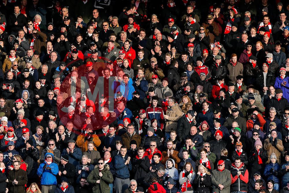 Bristol City fans - Mandatory byline: Rogan Thomson/JMP - 30/01/2016 - FOOTBALL - Ashton Gate Stadium - Bristol, England - Bristol City v Birmingham City - Sky Bet Championship.