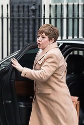Downing Street, London, March 8th 2016. Leader of the House of Lords, Baroness Tina Stowell arrives for the weekly UK cabinet meeting at Downing Street. ©Paul Davey<br /> FOR LICENCING CONTACT: Paul Davey +44 (0) 7966 016 296 paul@pauldaveycreative.co.uk