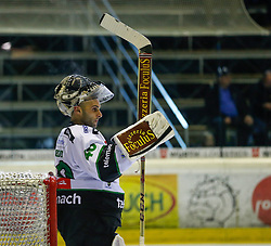 14.09.2014, Messestadion, Dornbirn, AUT, EBEL, Dornbirner EC vs HDD Telemach Olimpija Ljubljana, 2.Runde, im Bild Andy Chiodo, (HDD Telemach Olimpija Ljubljana, #40) // during the Erste Bank Icehockey League 2nd round match between Dornbirner EC and HDD Telemach Olimpija Ljubljana at the Messestadion in Dornbirn, Austria on 2014/09/14, EXPA Pictures © 2014, PhotoCredit: EXPA/ Peter Rinderer