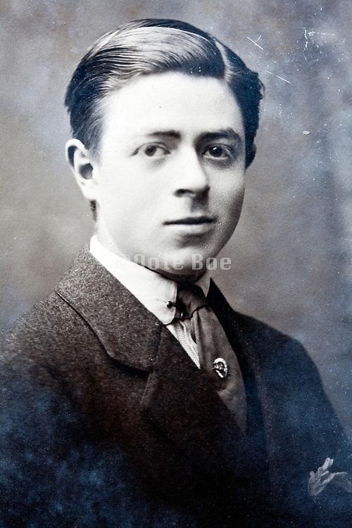 vintage portrait of young adult man