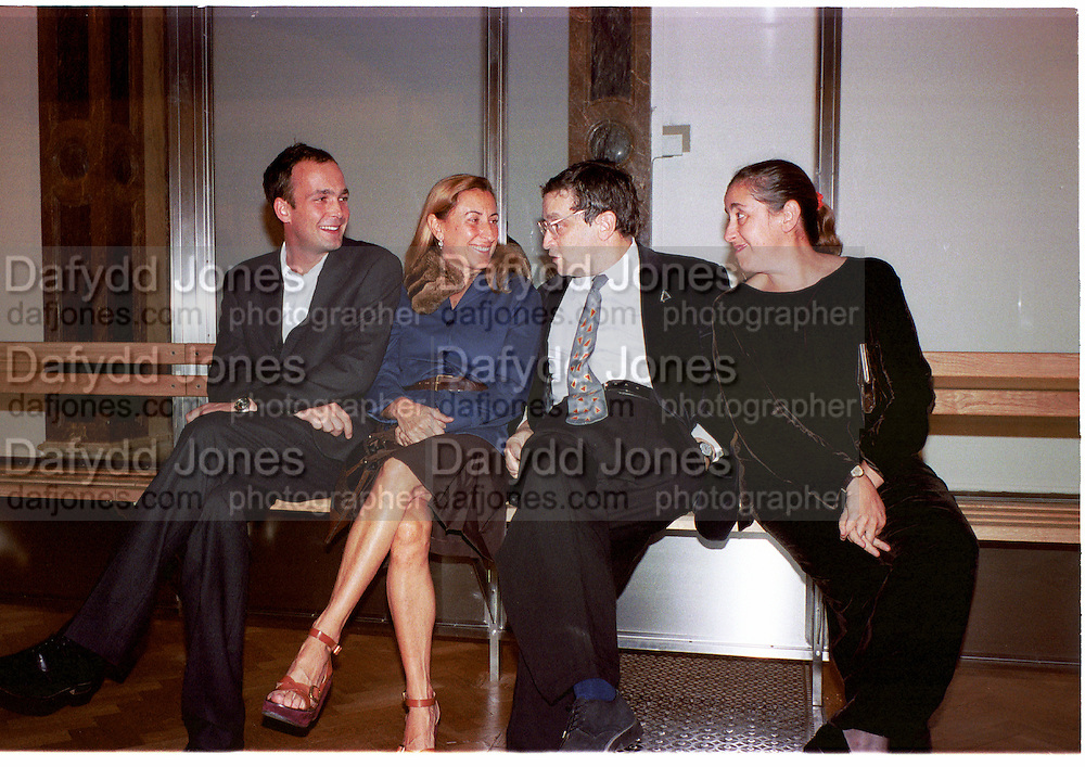 Max Wigram, Miucucci Prada, Norman Rosenthall and  Maula  Mema, ( she is Mrs. Norman Rosenthall at the Auchewitz bus stop.<br />