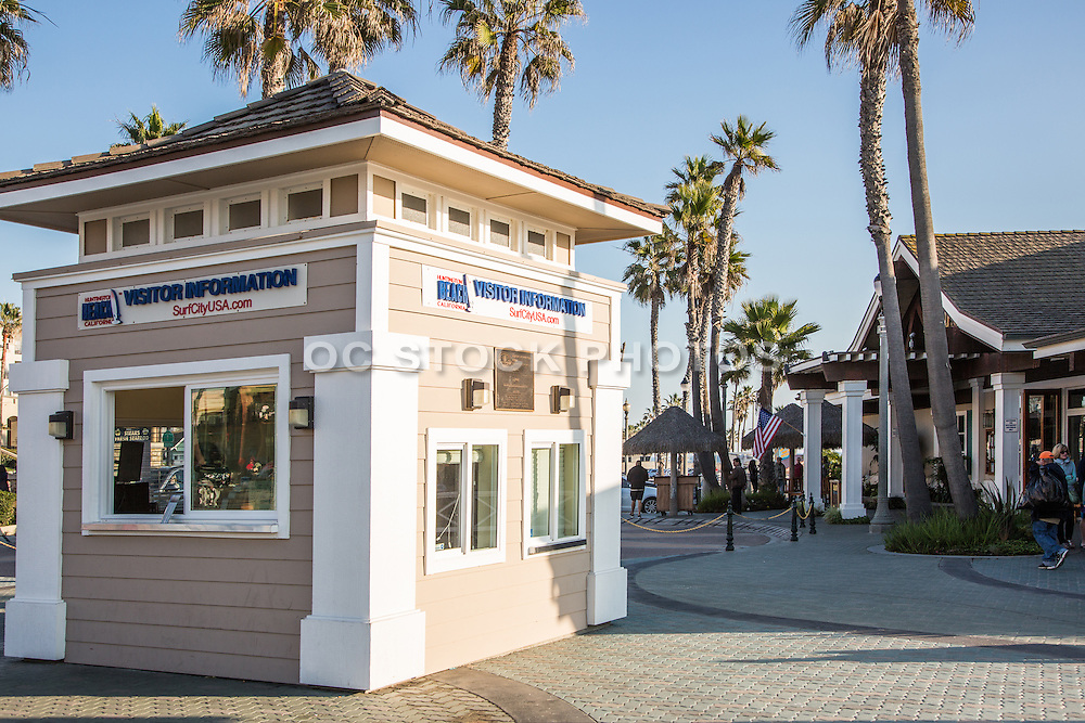 Visitor Information at the Pier Plaza in Huntington Beach California