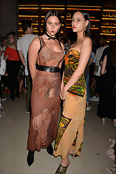 Reba Maybury, Jess Maybury at the Warner Music Group and British GQ Summer Party in partnership with Quintessentially held at Nobu Shoreditch Willow Street, London England. 5 July 2017.