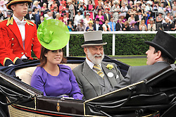 PRINCESS EUGENIE and PRINCE MICHAEL OF KENT at the 3rd day of Royal Ascot 2009 on 18th June 2009.
