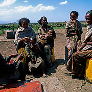 The Tata Water Committee is made up of women who, after receiving training from Intermón Oxfam, are responsible for managing the well. The community's commitment and participation, especially the women's, in the management and sustainable maintenance of the wells and springs is essential to the success of the Water Bank project. Raya-Mehoni, Ethiopia.