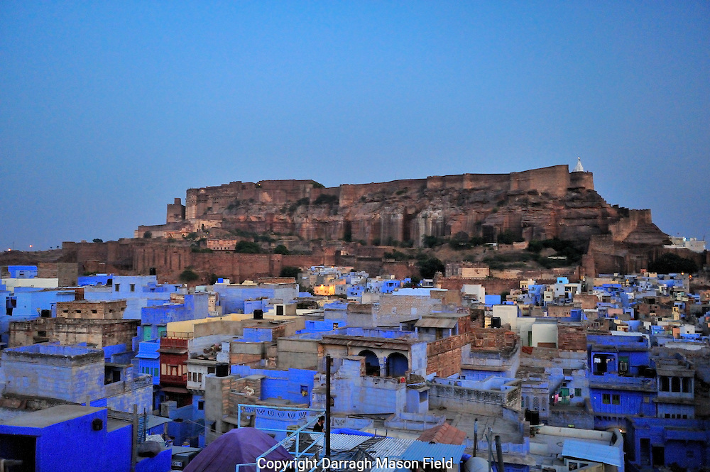 Jodphur's Mehrangarh Fort at Dusk